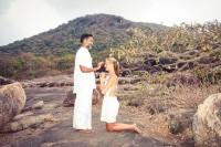 Viktoria and her spiritual teacher Rishi Sudhir. India